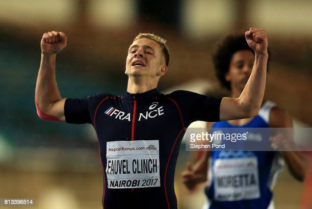 Steven Fauvel Clinch of France competes in the Boy's Decathlon 400m during day one of the IAAF U18 World Championships on July 12 2017 in Nairobi...