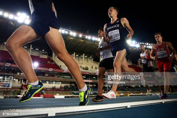 Steven Fauvel Clinch of France in action during the 1500m in the boys decathlon on day two of the IAAF U18 World Championships at the Kasarani...
