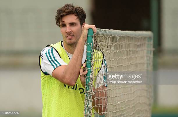 Steven Finn during a training session before the second test match between Bangladesh and England at Shere Bangla National Stadium on October 26 2016...
