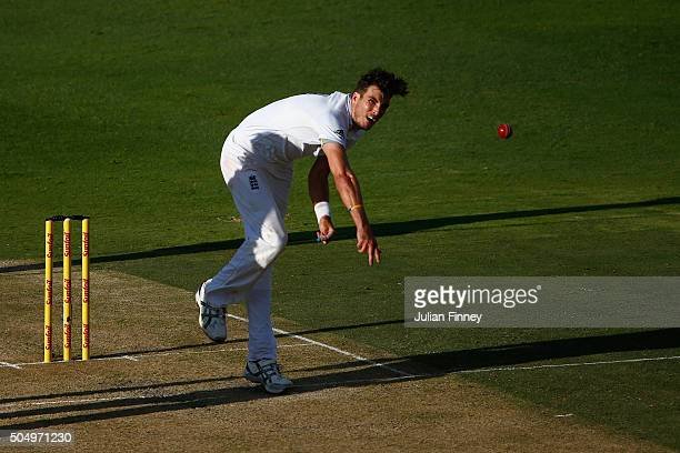 Steven Finn of England bowls during day one of the 3rd Test at Wanderers Stadium on January 14 2016 in Johannesburg South Africa