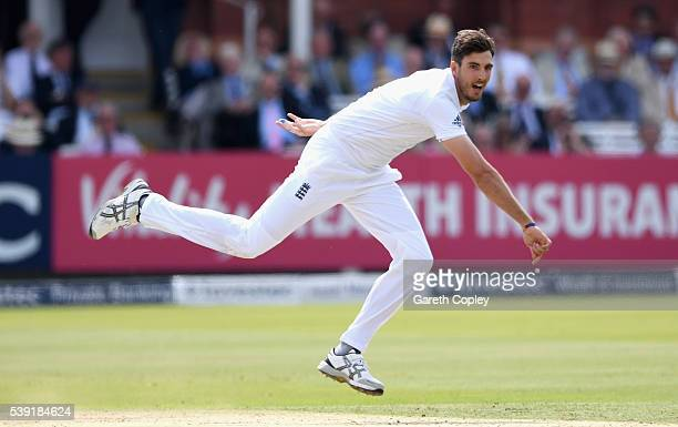 Steven Finn of England bowls during day two of the 3rd Investec Test match between England and Sri Lanka at Lord's Cricket Ground on June 10 2016 in...