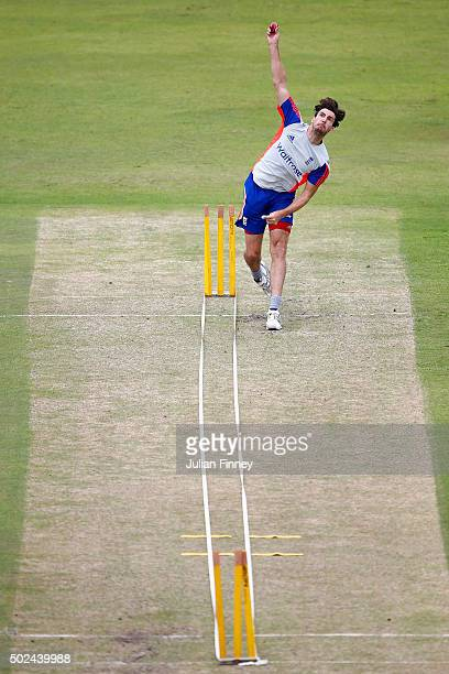 Steven Finn of England bowls during England nets and training session at Sahara Stadium Kingsmead on December 25 2015 in Durban South Africa