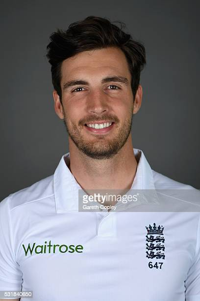 Steven Finn of England poses for a portrait at Headingley on May 17 2016 in Leeds England