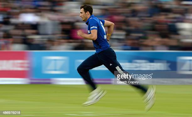 Steven Finn of England runs into bowl during the 2nd Royal London OneDay International match between England and Australia at Lord's Cricket Ground...