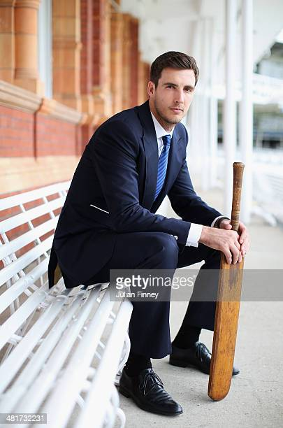 Steven Finn of Middlesex CCC poses for a photo outside the Pavilion at Lords during the Middlesex CCC Photocall at Lords on March 31 2014 in London...