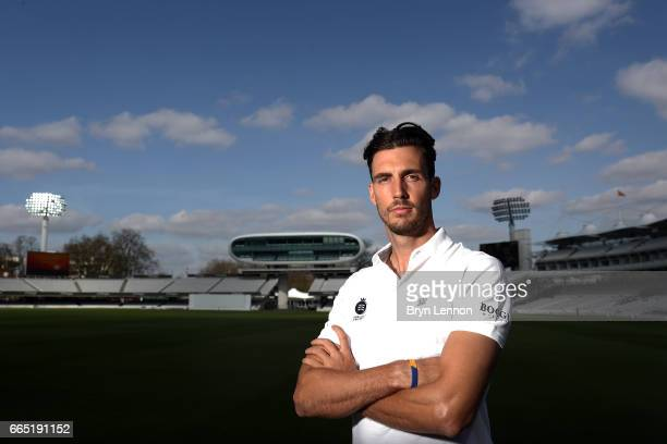 Steven Finn of Middlesex CCC poses for a portrait during their media day at Lord's Cricket Ground on April 5 2017 in London England