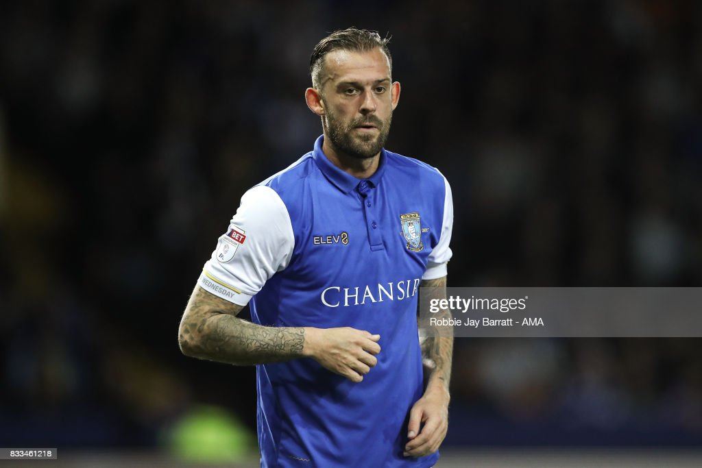 Steven Fletcher of Sheffield Wednesday during the Sky Bet Championship match between Sheffield Wednesday and Sunderland at Hillsborough on August 16, 2017 in Sheffield, England.