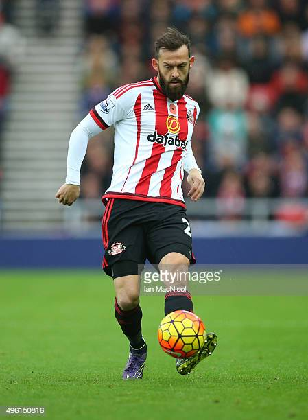 Steven Fletcher of Sunderland controls the ball during the Barclays Premier League match between Sunderland and Southampton at The Stadium of Light...