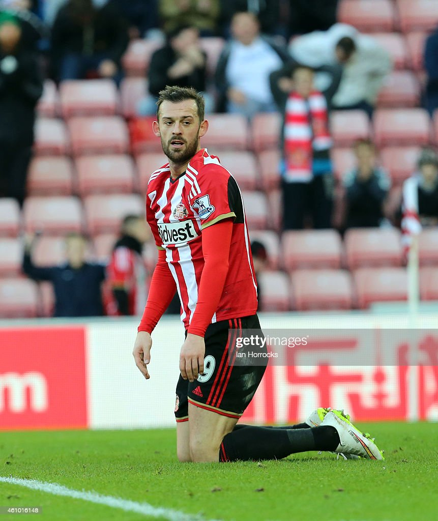Steven Fletcher of Sunderland during the FA Cup third round match between Sunderland and Leeds United at the Stadium of Light on January 04, 2015 in Sunderland, England.