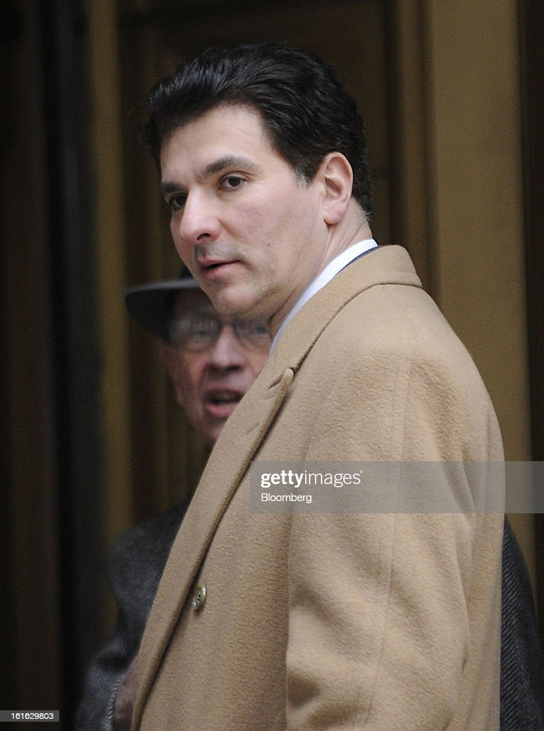 Steven Fortuna, co-founder and former managing director at S2 Capital LLC in Boston, front, leaves federal court following his sentencing in New York, U.S., on Wednesday, Feb. 13, 2013. Fortuna, a hedge-fund manager who pleaded guilty and assisted in the insider-trading probe of Galleon Group LLC and other federal investigations, was sentenced to two years' probation and six months' home confinement. Photographer: Louis Lanzano/Bloomberg via Getty Images