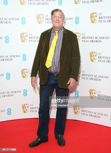 Steven Fry attends as the nominations for the EE British Academy Film Awards are announced at BAFTA on January 9 2015 in London England The awards...