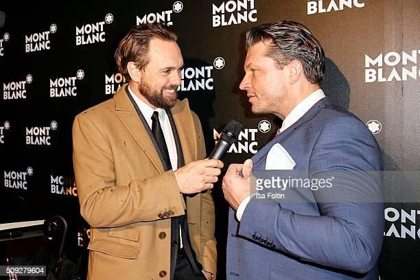 Steven Gaetjen and Hardy Kruger Jr attend the Montblanc House Opening on February 09 2016 in Hamburg Germany