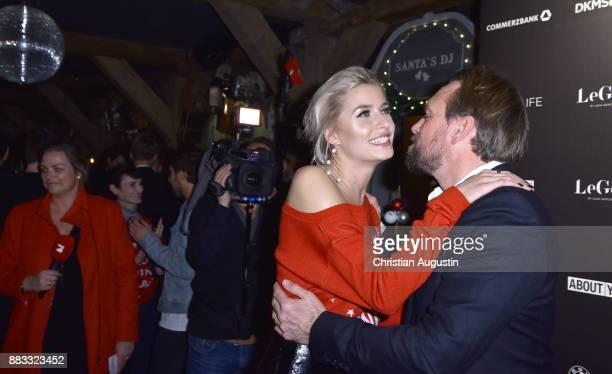 Steven Gaetjen and Lena Gercke attend the Christmas Dinner Party of Lena Gercke at the Bar Hygge on November 30 2017 in Hamburg Germany