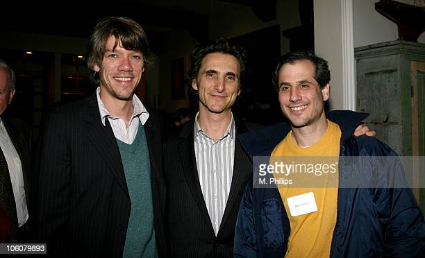 Steven Gaghan Lawrence Bender and Barry Mendell during Gary Hart Book Signing April 3 2006 at Private residence in Los Angeles California United...