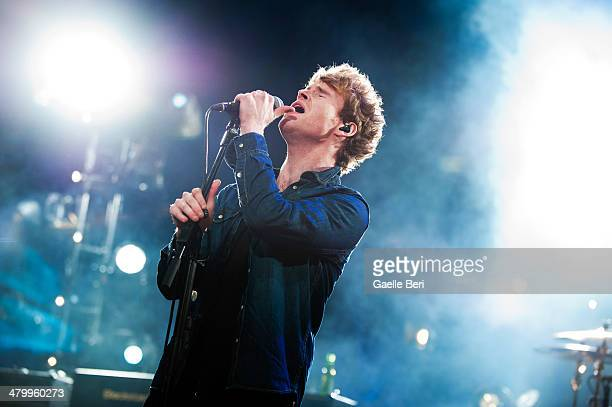 Steven Garrigan of Kodaline performs on stage at Brixton Academy on March 21, 2014 in London, United Kingdom.