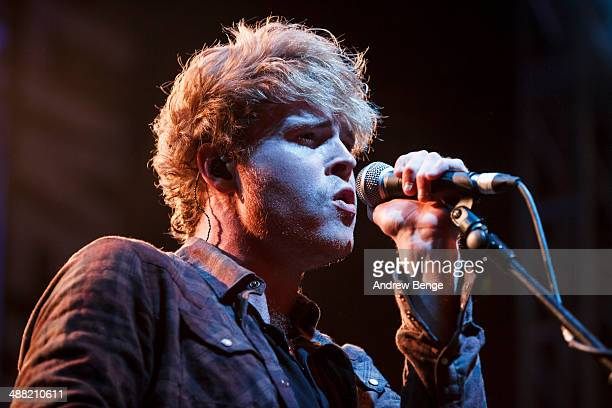 Steven Garrigan of Kodaline performs on stage to a sold out crowd at O2 Academy to close Live At Leeds music festival on May 4 2014 in Leeds United...