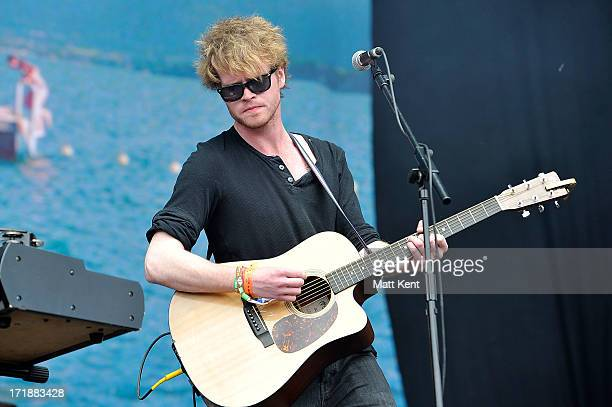 Steven Garrigan of Kodaline performs on the main stage at Hard Rock Calling Day 1 which is the inaugral concert at at the Queen Elizabeth Olympic...