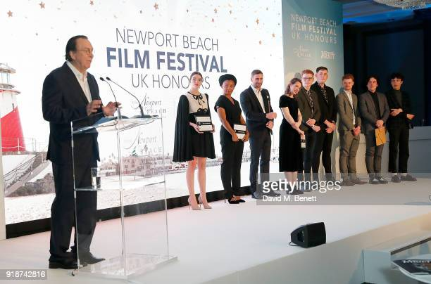 Steven Gaydos presents the Variety's 10 Brits to Watch on stage at the Newport Beach Film Festival UK Honours in association with Visit Newport Beach...