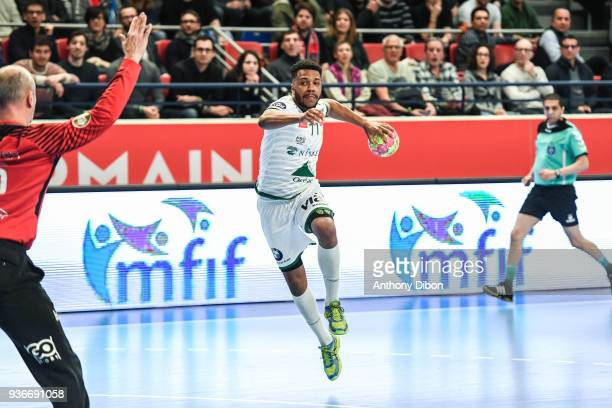 Steven George of Nimes during the Lidl Starligue match between Paris Saint Germain PSG and Nimes on March 21 2018 in Paris France