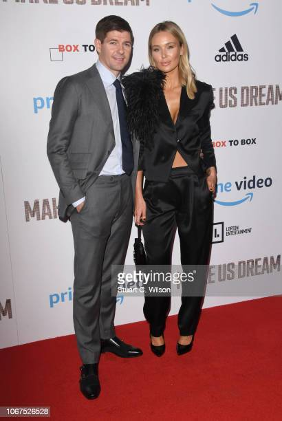 Steven Gerrard and Alex Gerrard attend the World Premiere of 'Make Us Dream' at The Curzon Mayfair on November 14 2018 in London England