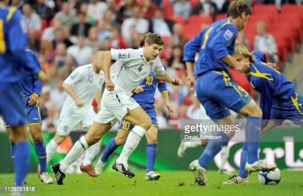 Steven Gerrard England v Kazakhstan FIFA World Cup Europe group qualifier at Wembley 11th October 2008