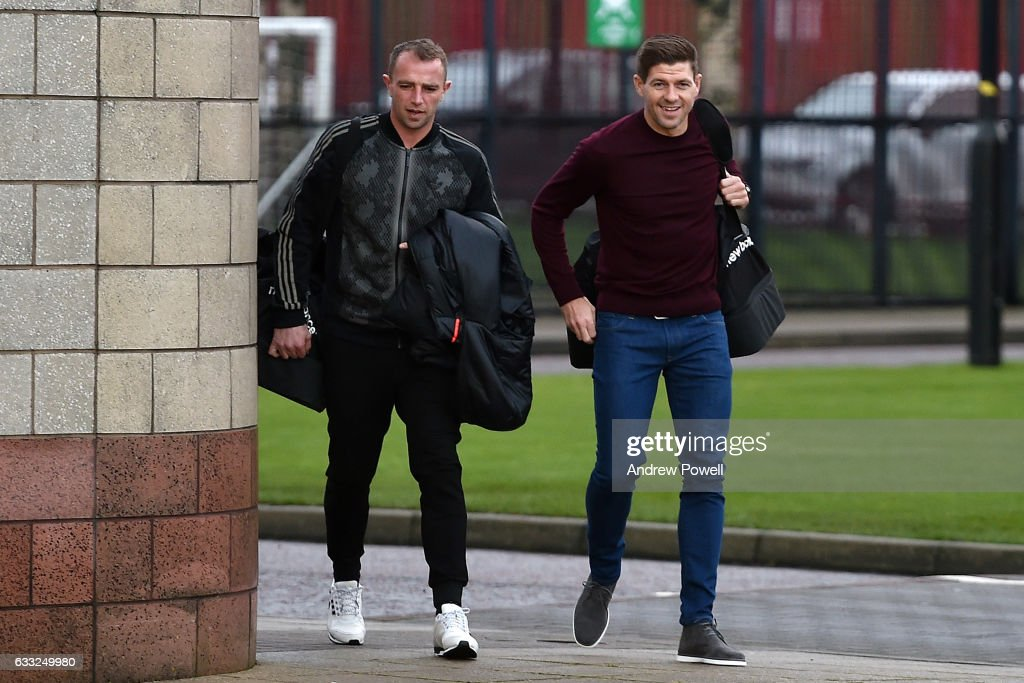 Steve Gerrard's First Day as Liverpool Academy Coach : News Photo