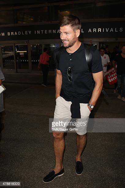 Steven Gerrard is seen at LAX on June 27 2015 in Los Angeles California