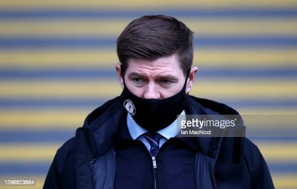 Steven Gerrard, Manager of Rangers arrives at the stadium prior to the Ladbrokes Scottish Premiership match between Motherwell and Rangers at Fir...