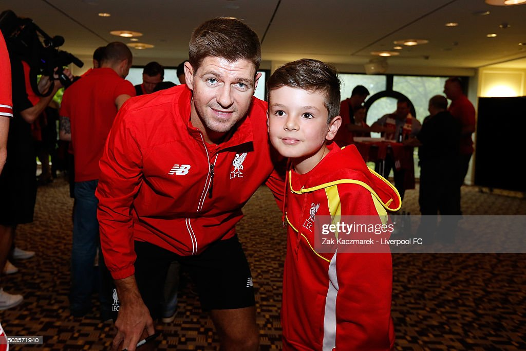 Steven Gerrard meets fans at a Liverpool Supporters event on January 6, 2016 in Sydney, Australia.