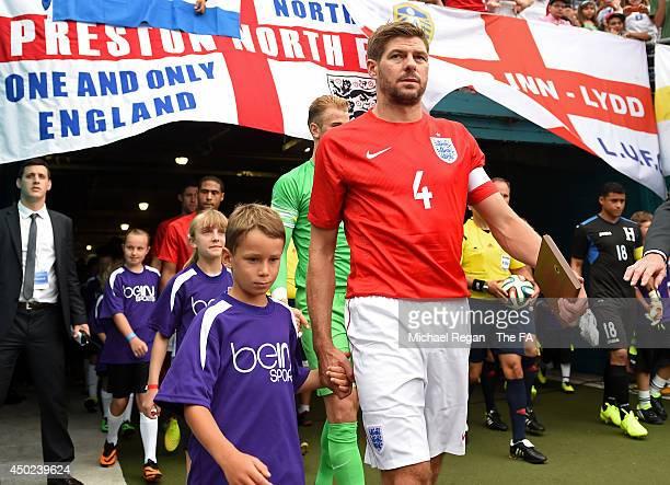 Steven Gerrard of England walks onto the field with teammates before the International Friendly match between England and Honduras at Sun Life...