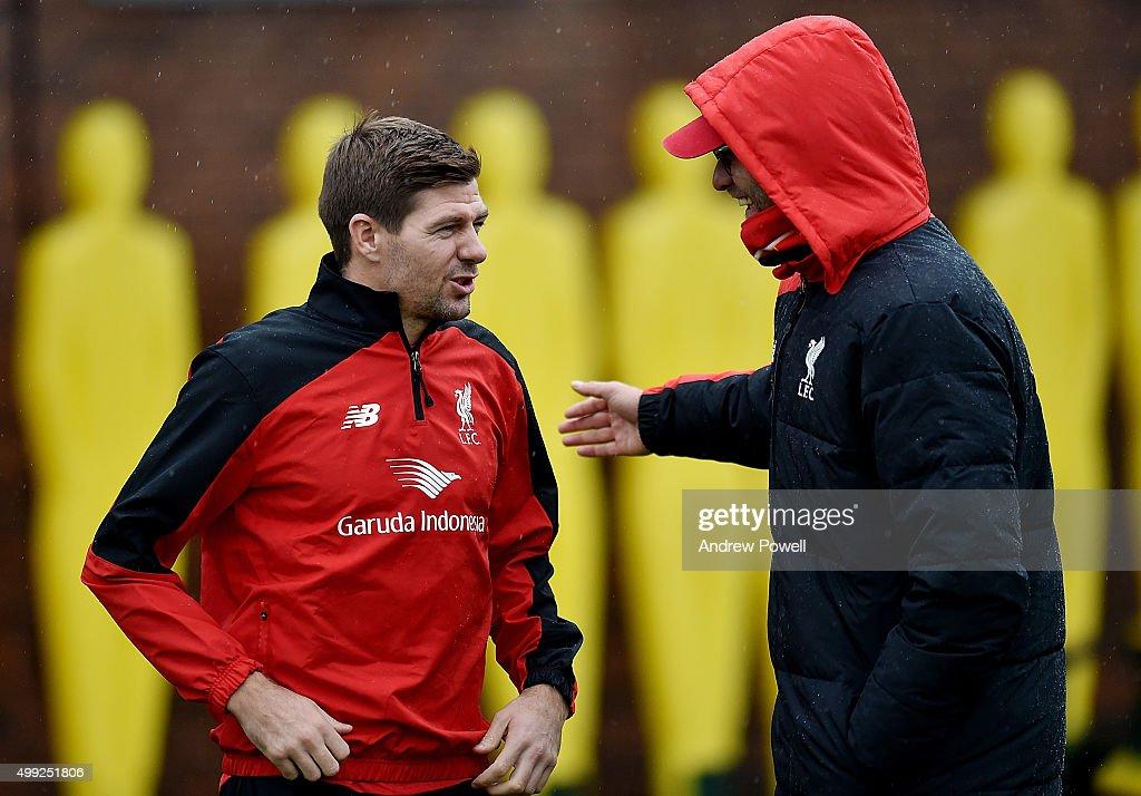 Liverpool Training Session : Nieuwsfoto's