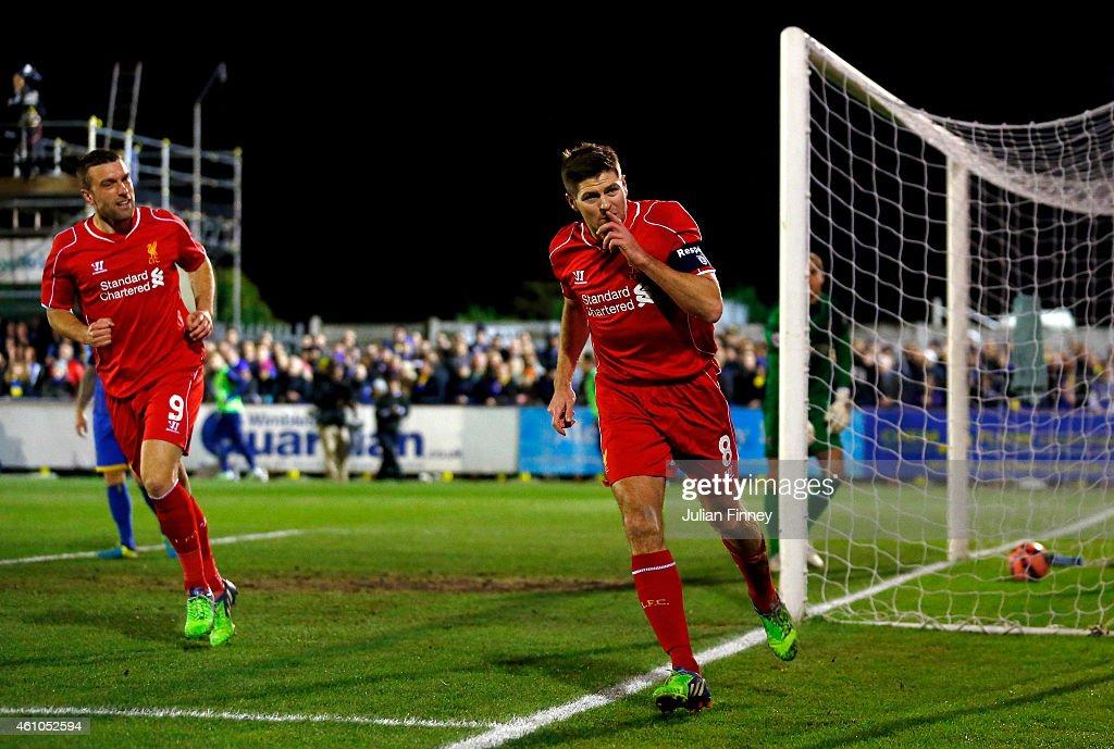 AFC Wimbledon v Liverpool - FA Cup Third Round : Foto jornalística