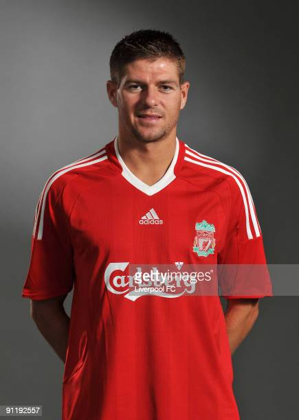 Steven Gerrard of Liverpool FC poses during a Liverpool FC 2009/2010 season photocall in Liverpool, England.