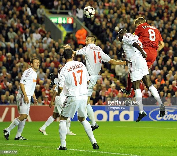 Debrecen Vs Liverpool Uefa Champions League Match: Liverpool V Debrecen Vsc Uefa Champions League Stock