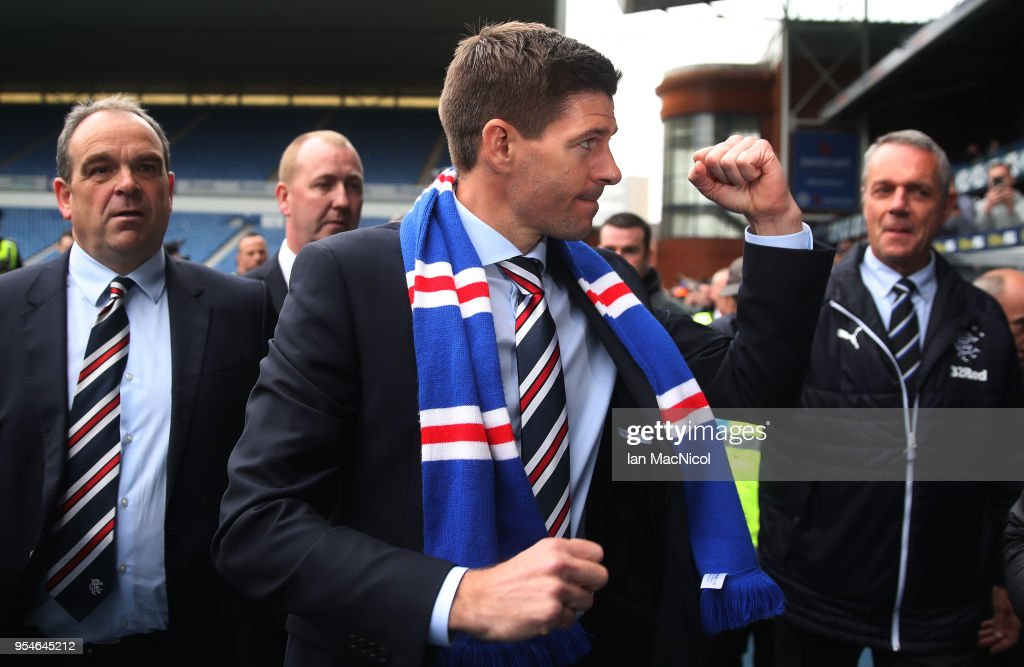 Steven Gerrard is Unveiled as the New Manager at Rangers : News Photo