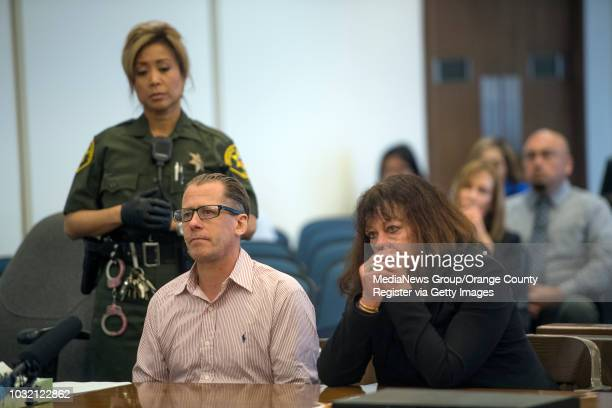 Steven Gordon left sitting with his advisor Denise Bragg listens as Orange County Superior Court Judge Patrick Donahue sentences him to death for the...