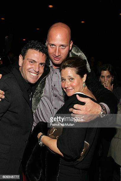 Steven Green Jason Cipolla and Lorraine Bracco attend 42 on 42 Steven Green's Birthday Party at BB Kings Blues Club on January 14 2007 in New York...
