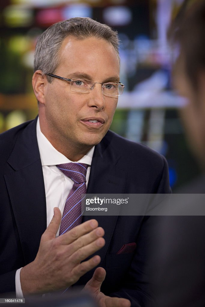 Steven Grimes, chief executive officer of Retail Properties of America Inc., speaks before a Bloomberg Television interview in New York, U.S., on Tuesday, Jan. 29, 2013. Grimes discussed the company's growth strategy. Photographer: Scott Eells/Bloomberg via Getty Images