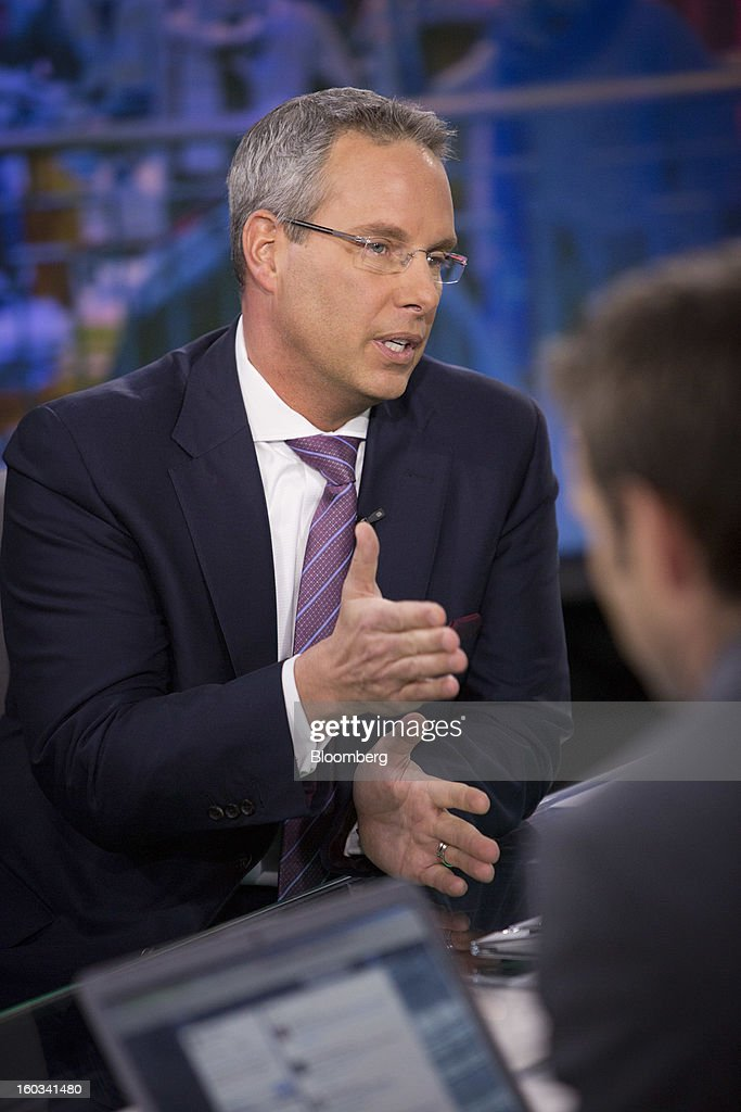 Steven Grimes, chief executive officer of Retail Properties of America Inc., speaks during a Bloomberg Television interview in New York, U.S., on Tuesday, Jan. 29, 2013. Grimes discussed the company's growth strategy. Photographer: Scott Eells/Bloomberg via Getty Images
