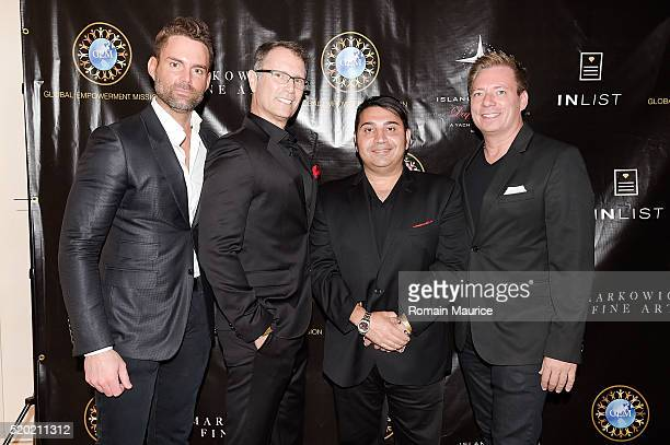 Steven HartÊ Shy Kostiner Jon Graney Fred Khalifa Attends Global Empowerment Mission Gala At Island Gardens Celebrating The Birthdays Of Michael...