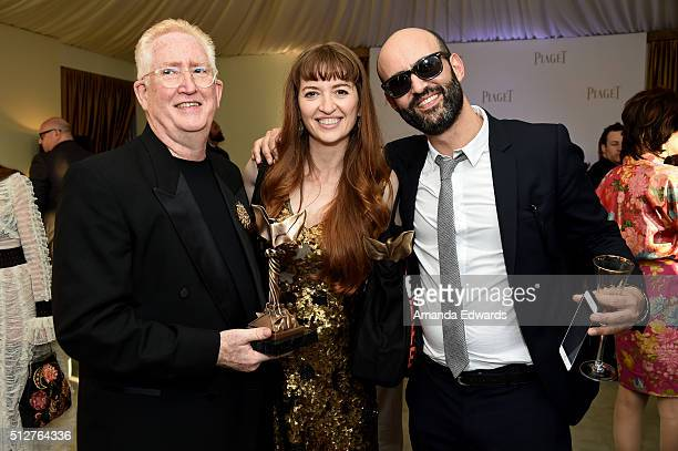 Steven Heller director Marielle Heller winner of the Best First Feature award for 'The Diary of a Teenage Girl' and producer Michael Sagol attend the...