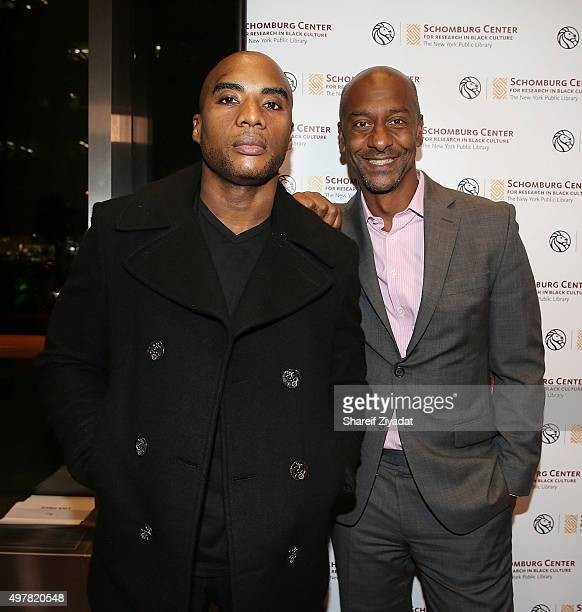 Steven Hill and Charlamagne Tha God attend the 2015 WEEN Awards at The Schomburg Center for Research in Black Culture on November 18 2015 in New York...