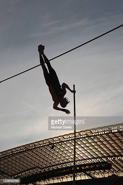 Steven Hooker of Australia and Team AsiaPacific on his way to victory in the men's pole vault during the IAAF/VTB Continental Cup at the Stadion...