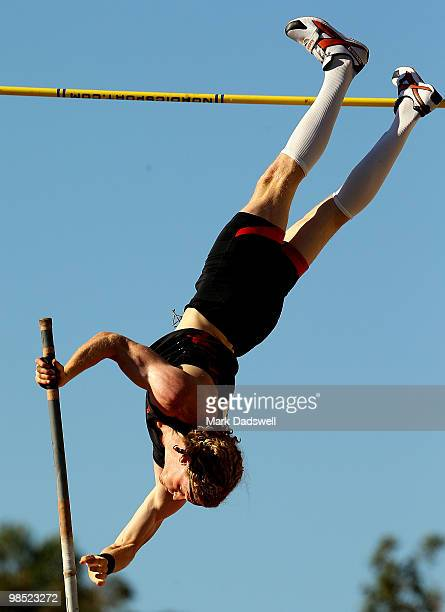 Steven Hooker of the WAIS competes in the Mens Pole Vault Open during day three of the Australian Athletics Championships at Western Australia...