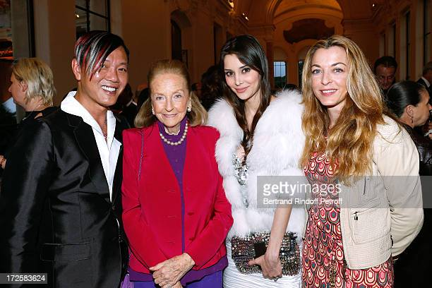 Steven Hung Doris Brynner Deborah Hung and and Arabelle ReilleMahdavi attend 'The Glory Of Water' Karl Lagerfeld's Exhibition Preview and Fendi new...