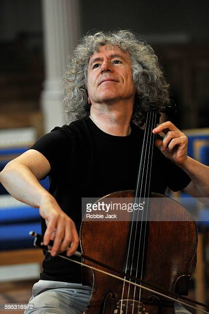 Steven Isserlis rehearsing for his concert at the Queens Hall part of the Edinburgh International Festival on August 22 2016 in Edinburgh Scotland