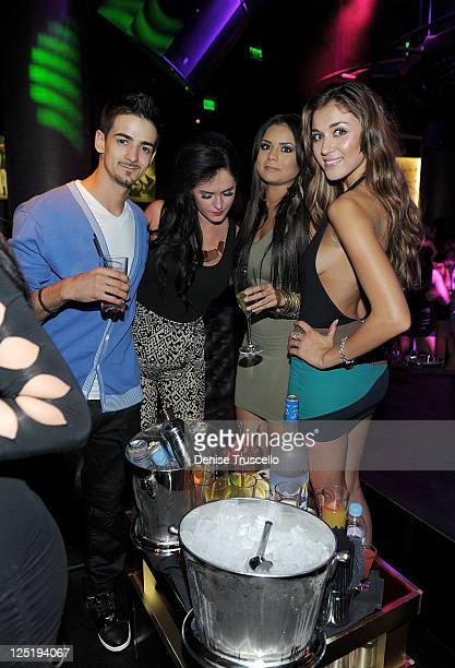 Steven Jackson Alex Wagner Janira Kremets and Chelsea DeLeon during the casting for Clifton Shores season 2 at Gallery Nightclub at Planet Hollywood...