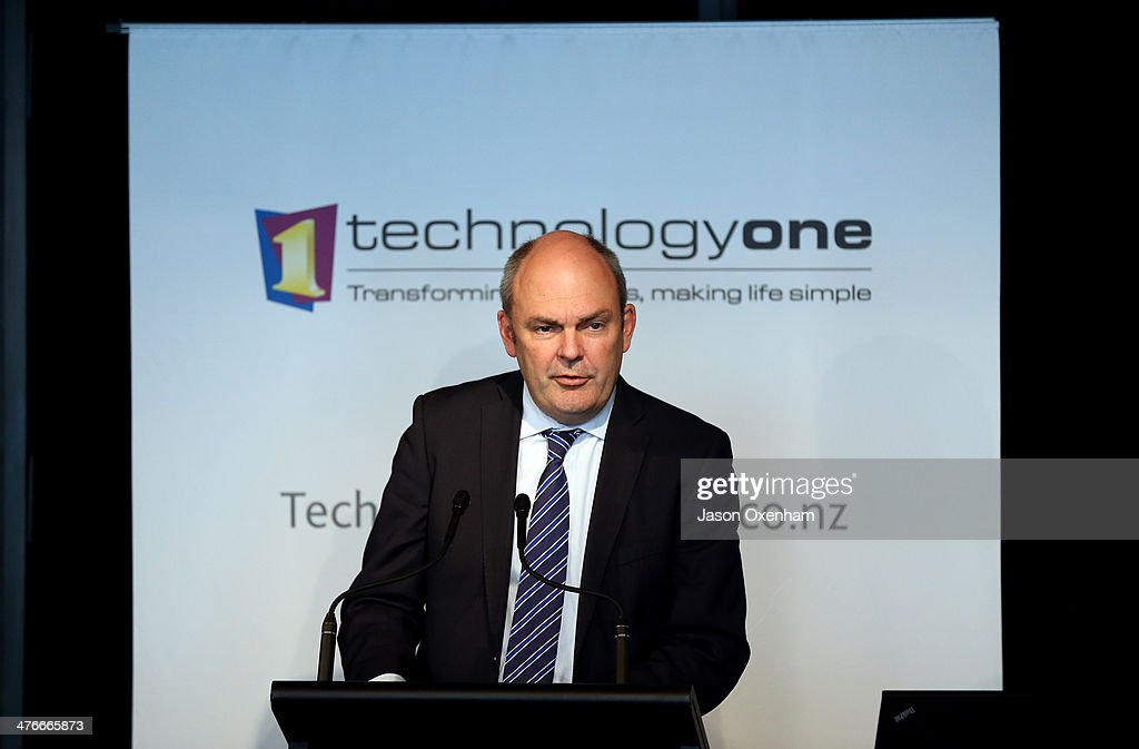 MP Steven Joyce, Minister for Tertiary Education, Skills and Employment speaks at the Higher Education Summit and Expo at the Aotea Convention Centre on March 5, 2014 in Auckland, New Zealand. Joyce made a policy announcements about Teritary funding during the speech.