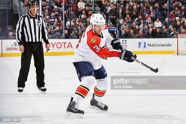 Steven Kampfer of the Florida Panthers skates against the Columbus Blue Jackets on December 4 2015 at Nationwide Arena in Columbus Ohio