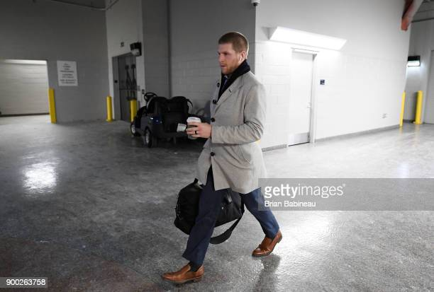 Steven Kampfer of the New York Rangers arrives for the 2018 Bridgestone NHL Winter Classic between the New York Rangers and the Buffalo Sabres at...